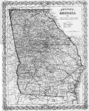 Georgia Map 1861
