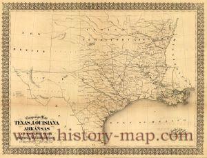 Texas Map 1861