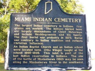 Miami Indian Cemetery, Union Baptist Church, Indiana