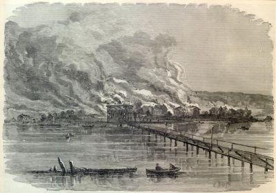 The Confederate Burning of the Town of Hampton, Virginia