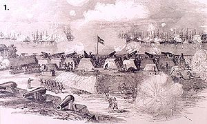 View of the Battle of Port Royal from the Confederate heights by Rossiter Johnson
