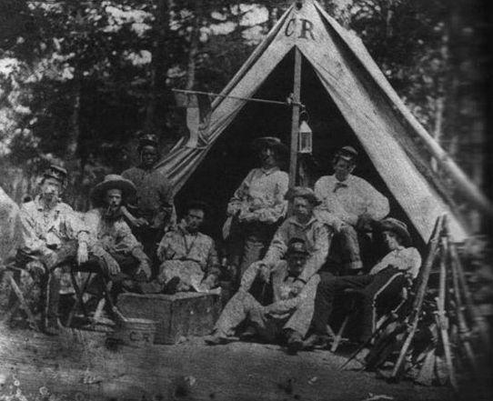 Confederate Camp, 5th Georgia