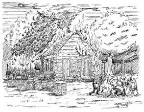 John Hunt Morgan burns Pleasant Hill Baptist Church