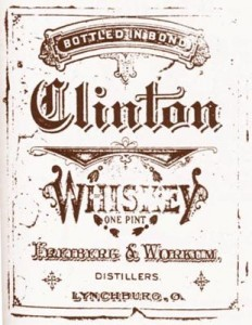 Civil War era whiskey label