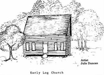 Early Log Church by Julie Duncan