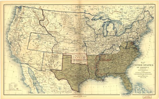 Civil War States Map