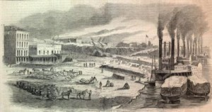 Union Forces in Memphis Loading Sugar and Cotton for Shipping Northward, by Alex Simplot