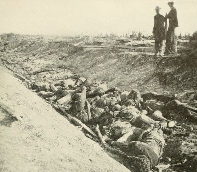 "Confederate Dead in ""Bloody Lane"" after the Battle of Antietam"