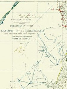 Civil War map of the Georgia coast from the Savannah River to St. Mary's River