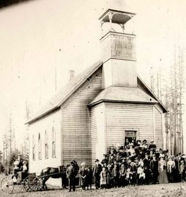Brush Prairie Baptist Church, Vancouver, Washington -- Oldest existing Baptist church in the state