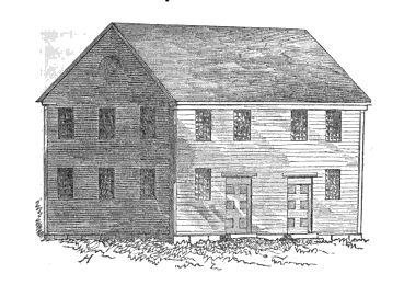 The Baptists' first meeting house in Canton