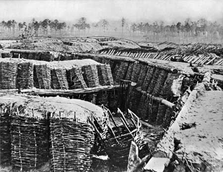 American Civil War, Battle of Petersburg, 1865 Stock Photo