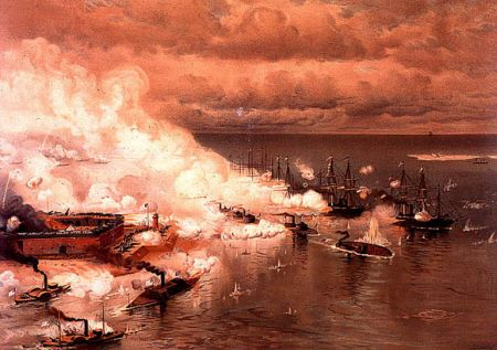 """Battle of Mobile Bay,"" by Louis Prang"