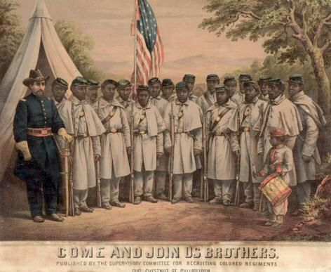U.S. Colored Troop Recruitment broadside. 1863-1865. Courtesy of  Rare Book, Manuscript, and Special Collections Library at Duke University